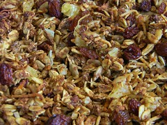 Carrot Cake Granola (yummysmellsca) Tags: food cooking kitchen vegetables recipe baking yummy coconut delicious pineapple carrot agave orangejuice edible carrotcake raisin oj sunflowerseeds cheapfood comestible wheatgerm carrotcakegranola carrotgranola