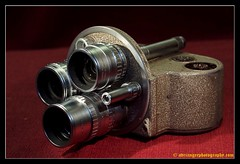 BELL & HOWELL (adriangeephotography) Tags: camera old classic 120 film leather 35mm vintage movie lens photography early box antique rangefinder cine collection chrome adrian accessories gee 8mm 16mm array collectable fujis5pro nikon55mmf28 adriangeephotography
