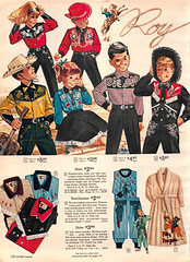 1962 Sears Christmas Book page116 (pippaandpom_Blythe) Tags: hat cowboy cowgirl searscatalog westernoutfit vintagechildrenscostumes 1950schildrensclothes