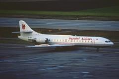 Istanbul Airlines Aerospatiale SE-210 Caravelle 10B1R; TC-ABA, December 1989 (Aero Icarus) Tags: plane aircraft flugzeug avion slidescan caravelle istanbulairlines tcaba aerospatialese210caravelle10b1r