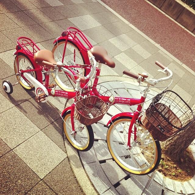 サイズ違いの子供自転車が入荷!姉妹みたいですよね☆ #eirin #kids #子供自転車 #14 #20