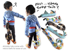 Kaiju Tails (bigbrownmonster) Tags: party monster bag daddy fun toy design costume child handmade tail creative dressup plush parent gift kawaii handcrafted 创意 ideas kaiju 爸爸 儿童 preschooler 子供 父 手工 可爱 设计 幼稚園 包包 デザイン 亲子 袋 尾 stayathome 楽しみ ギフト 乐趣 怪兽 モンスター テール bigbrownmonster wilkietan 手作りされる かわいいハンドメイド