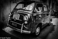 Classic Fiat (Scrufftie) Tags: travel blackandwhite italy car canon italia hdr abruzzo lightroom lanciano canonef24105mmf4lisusm canon5dmkii hdrpro