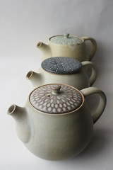tea pots (anewdawnanewday) Tags: ceramics faceted pottery teapot tableware fuctionalware