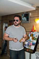 Incognito (JF Sebastian) Tags: portrait sunglasses hotel friend lobby alcaládehenares morethan100visits morethan250visits fujifilmxe11855
