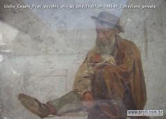 Giulio Cesare Prati Vecchio olio su tela 19x17cm 1885-87 Collezione privata