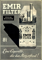 Emir Filter Cigarettes (Harald Haefker) Tags: promotion vintage magazine germany ads print advertising deutschland pub publicidad reclame cigarette fabrik hamburg ad egypt retro smoking anuncio advertisement nostalgia cairo filter german 1950s advert cigarettes werbung publicité magazin herz emir reklame 1959 deutsch affiche publicitario zigaretten deutsche cigarro zigarette pubblicità rauchen cigarros sigaretta kairo réclame zweig pubblicizzazione сигаре́та вербо́вка рекла́ма
