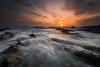 Waves Motion (Farizun Amrod Saad) Tags: seascape rock sunrise canon landscape waves stones malaysia terengganu eastcoast kualaterengganu sigma1020mm hoyacpl cendering adoberaw pandak pantaipandak eos70d rgndsinghray photoshopcs6