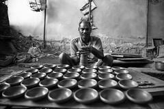 IMG_1117 (Deepthi Ghalke) Tags: street light people house art girl wheel work mud traditional machine spinning pottery hyderabad deepthi diya bowenpally ghalke deepthighalke