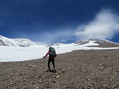 Climbing to Pissis high camp