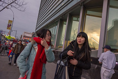 Over There (rockerlan) Tags: street new york people by photography photo candid sony over queens there passing flushing rx100