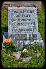 Providence R.I. - Swan Point Cemetery H.P.Lovecraft Grave I AM PROVIDENCE (Daniel Mennerich) Tags: swan point cemetery swanpointcemetery canon dslr eos hdr hdri spiegelreflexkamera slr
