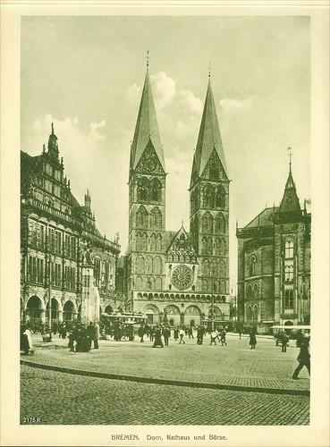 Deutschland. Bremen Cathedral (German: Bremer Dom or St. Petri Dom zu Bremen). Bremer Börse.