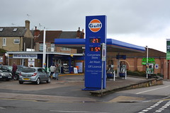 Gulf, Mansfield Nottinghamshire. (EYBusman) Tags: station town gulf garage centre gas gb service pace petrol gasoline oils nottinghamshire filling certas eybusman fuelcare