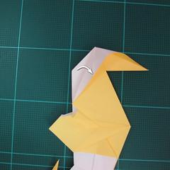 วิธีการพับกระดาษรูปม้าน้ำ (Origami Seahorse) 040