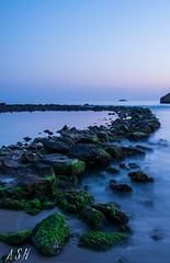 Life (Snchez Huelves) Tags: longexposure light sea sky espaa seascape luz nature rock stone landscape atardecer nikon solitude paisaje murcia cielo aguilas waterscape exposicinlarga d90 infinitexposure