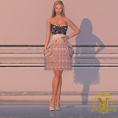 {Meghindo's} ~ Pink Feather Dress ~ (Meghindo) Tags: new dress collection gown 2014 meghindo