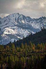 Sierra Nevada Snowy Mountains (JarrodLopiccolo) Tags: trees mountain snow mountains clouds sierras sierranevada califorina