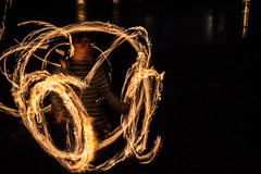 Fire Spinning I (Lamarr LEMTRIX Golding) Tags: city longexposure light urban london art speed canon fire photography lights photo flickr raw culture trails surreal southbank photograph shutter nightlife 1100d