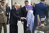 Photo of The Queen  greets President Giorgio Napolitano