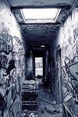 Usine Abandonne (30) (MoTH4FoK) Tags: urban abandoned de graffiti factory hole bright decay tag debris corridor lumiere graff polar exploration wreckage couloir usine trou urbex urbaine abandonnee