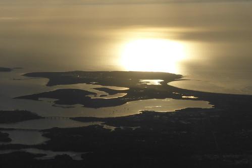 Küste in der Nähe von Sydney im Landeanflug