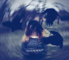 Divergent (xbutterfly28x) Tags: portrait selfportrait art girl digital self canon roth hair book emotion fear inspired ombre veronica portraiture whip concept crow t3 conceptual diverge raven author whiplash divergent