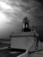 The Watchtower (Rodrigo Neves) Tags: blackandwhite bw santacruz tower canon peak fortaleza fortress niteroi watchtower sx120is