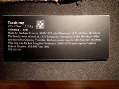 Hunter Taatit Rug (nz_willowherb) Tags: museum see scotland tour visit shetland lerwick to go