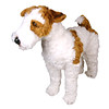 Plush / Stuffed Animal Wire Haired Fox Terrier (Piutre) Tags: italy dog wire hand made terrier fox haired realistic wirefoxterrier piutre