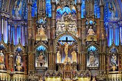 Notre Dame Basilica (photocenter48) Tags: blue canada rojo arte montral interior magenta iglesia colores notredame altar amarillo cruz santos trinidad moises cristo mara cian jess dorado esttuas turista morado visitante plpito basililca gilbertopizanoarroyave