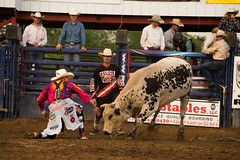 DSC05403 (POV Heartland) Tags: horse minnesota cowboy sony bull e rodeo bullriding bullfighters a7ii isanti fe70200f4 ilce7m2