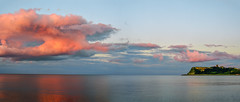 Evening Clouds Pano (pollylew) Tags: