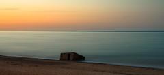 Defenceless (John Pettigrew) Tags: sunset sea urban seascape history beach rural landscape war long exposure box decay d750 pill defence relic caister 2470mm