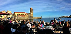 Off Season Saturday in Collioure South of France (JRJ.) Tags: frankrike france collioure mediterranian sun winter