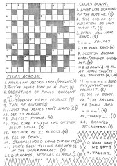 Crossword (stillunusual) Tags: headbanger fanzine punkfanzine punkzine punk punkrock newwave 1979 1970s