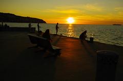 Sunsets in Koper (rlubej) Tags: primorska sunset people sea