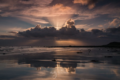 dramatic sunset (Pastel Frames Photography) Tags: irelandgylesquay colouth sunset clouds reflections beach water sea irish nature canon5dmark3 2470mm