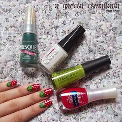 Nail Art: Morango (A Garota Esmaltada) Tags: agarotaesmaltada unhas esmaltes unhasdecoradas unhasartísticas manicure nails nailpolish nailart naildesign strawberry morango fruit fruta