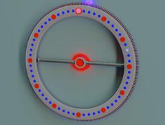 Clock D3f (Ke7dbx) Tags: industrialdesign productdesign clock led red blue concept conceptart design modo cg cgi 3d art