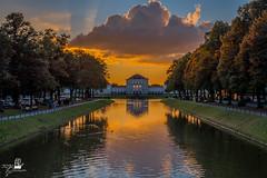 Sonnenuntergang am Schlosspark (TOJE PHOTOGRAFIE) Tags: toje schloss nymphenburg sonnenuntergang münchen