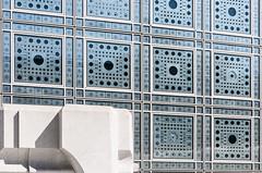 DSC_3786-2 (deborahb0cch1) Tags: geometric façade outdoor building architecture lines arabicdesign pattern institutdumondearabe paris windows