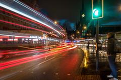 King's Cross Station Long Exposure (adambowie) Tags: london bus kingscross lights longexposure stpancras station