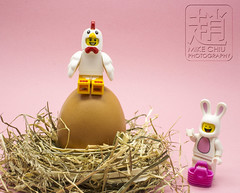 Easter (mikechiu86) Tags: lego minifigures collectible easter bunny chicken egg nest
