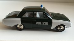 Atlas Editions / Norev  - Dinky Toys - Model Number 551 - Ford Taunus Polizeiwagen - German Police Car - Miniature Die Cast Metal Scale Model Emergency Services Vehicle (firehouse.ie) Tags: models model metal miniature toys toy cars car polis politi policja policia polizia polizei atlaspolice atlaseditors police dinky atlas