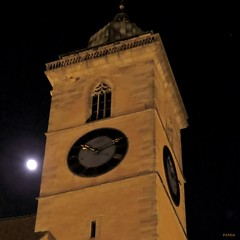 moon (mknt367 (Panda)) Tags: 2017 nürtingen stlaurentius churchtower kirchturm moon night