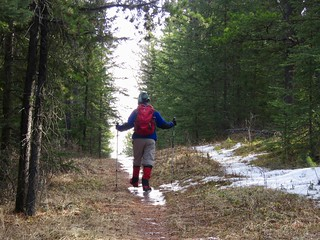 Brown-Lowery Provincial Park - Larry on the trail