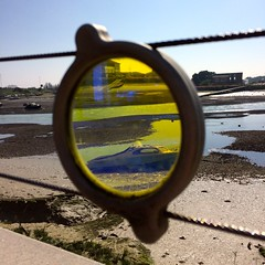 yellow lens (Noelle McCormack) Tags: yellow distort lens adur river sussex