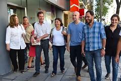 Visitando recoleta con Horacio Rodríguez Larreta, Santilli, Etchecoin, Ferraro. 25/3