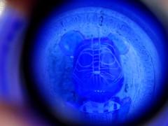Blue Vador. (AGUILA81) Tags: bearbrick berbrick bear 100 toy toyz toys collectible collection medicom blue vader starwars vador darkvador bleu darthvader clear transparent